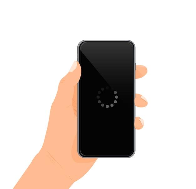 Ładowanie ekranu telefonu ładowanie telefonu banner ilustracja wektorowa