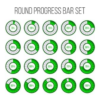 Ładowanie okrągłego paska postępu