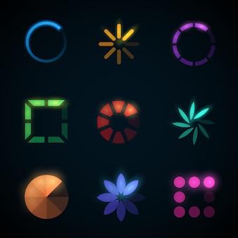 Ładowanie paska postępu i wstępne ładowanie ikon