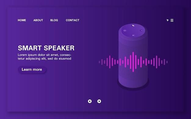 Ładowanie strony inteligentnego asystenta głosowego z falą dźwiękową.