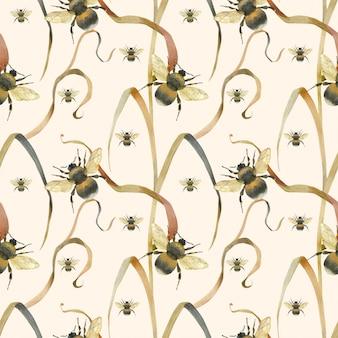 Łąka pszczoła jasny wzór