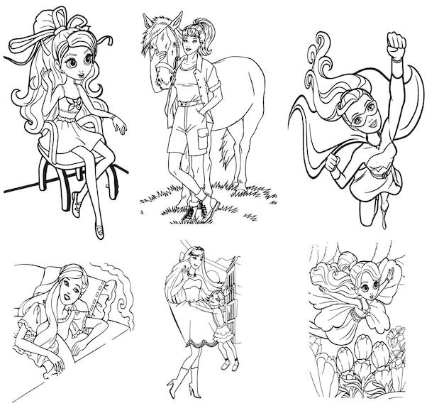 Lalka szkic ilustracji