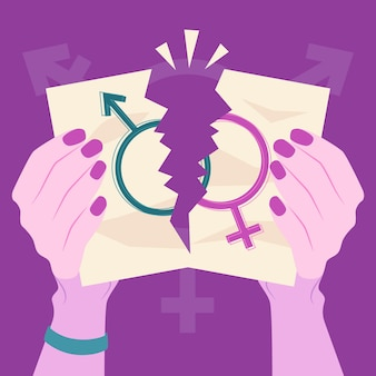 Łamać normy płciowe ilustracją rękami