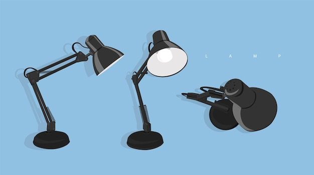 Lampa biurkowa z 3 widokami