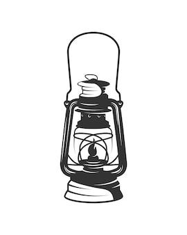 Lampa na białym tle ilustracja w wyciągnąć rękę