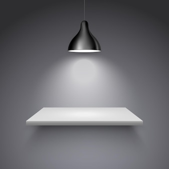 Lampa na półkę lampa w galerii światła