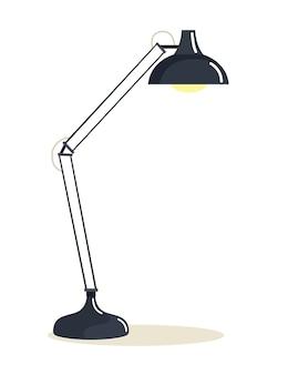 Lampa podłogowa na białym tle