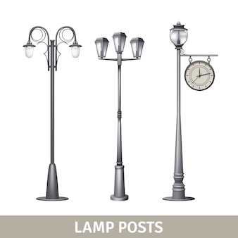 Lampa post stary zestaw elektryczny oświetlenie uliczne