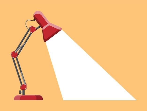 Lampa stołowa z białym światłem