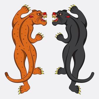 Lampart i czarna pantera