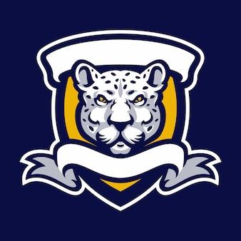 Lampart maskotka logo sport.