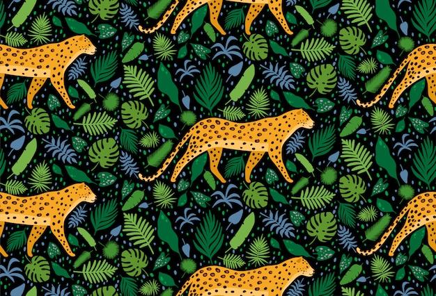 Lamparty otoczone tropikalnymi liśćmi palmowymi