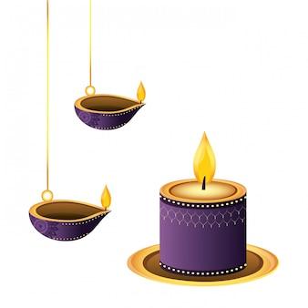 Lampion świece olejowe wisi