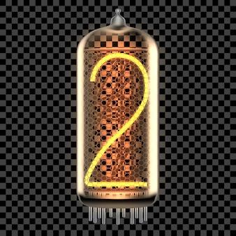 Lampka kontrolna nixie z numerem