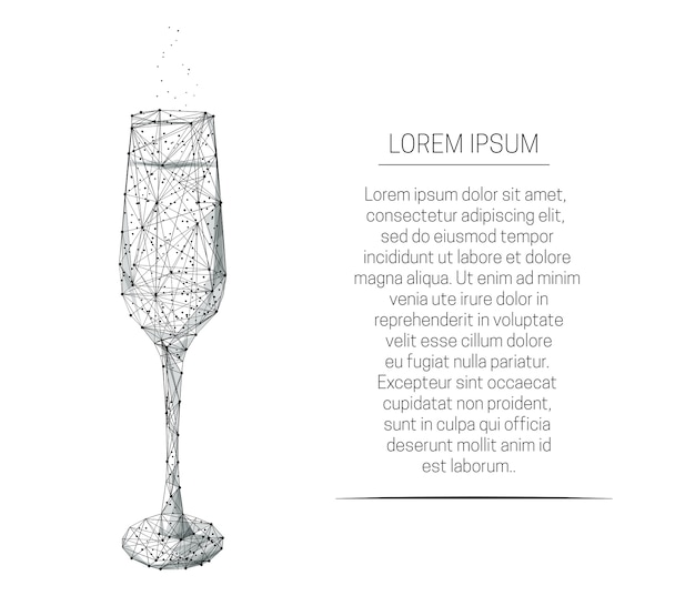 Lampka z szampanem