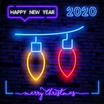 Lampki choinkowe girlanda neon znak