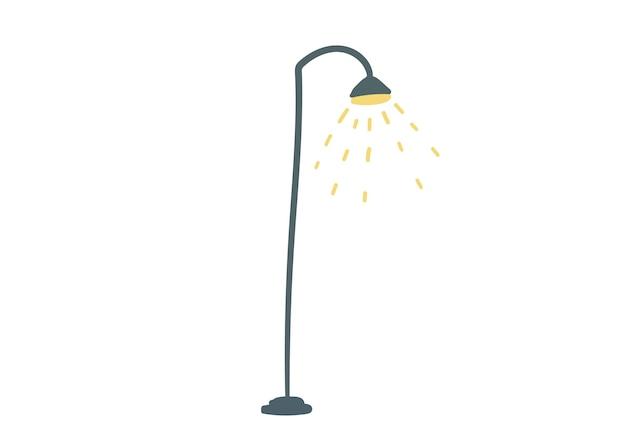 Lampy uliczne handdrawn wektor ilustracja kreskówka prosty styl