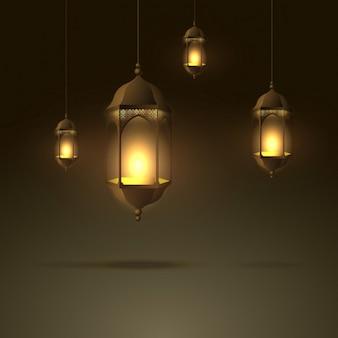 Lampy wiszące piękne świecące płomienia