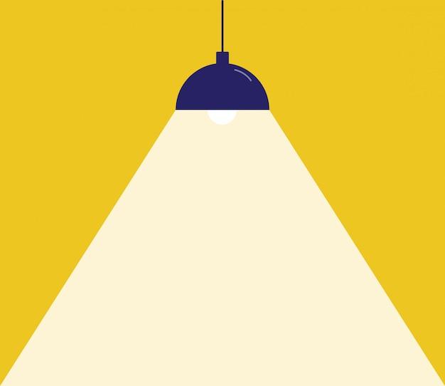 Lampy zapalają światła. miejsce na twój tekst.