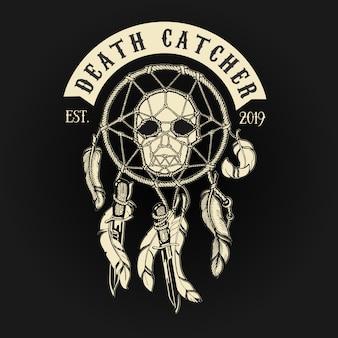 Łapacz śmierci biker skull