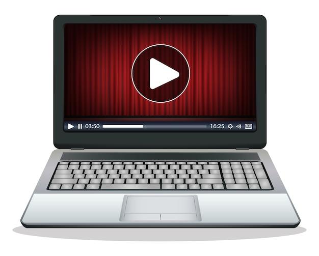 Laptop z odtwarzaczem multimedialnym