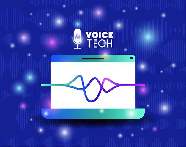 Laptop z technologią rozpoznawania głosu
