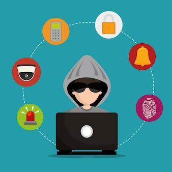 Laptop zhakował zabezpieczenia mediów społecznościowych
