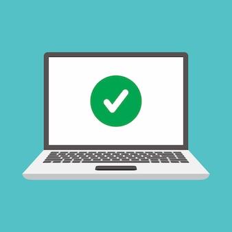 Laptopy i znaczniki wyboru