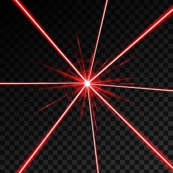 Laserowa wiązka bezpieczeństwa świeci promień światła.