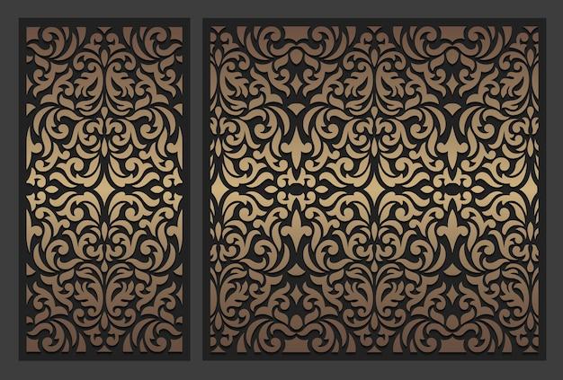 Laserowo wycinany panel. ozdobny szablon granicy vintage.