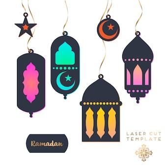 Laserowo wycinany wzór islamski