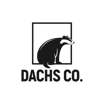 Łasica logo inspiracja leśne dzikie zwierzę gronostaj