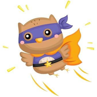 Latająca sowa superbohatera