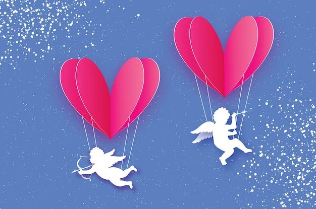 Latające amorki - małe aniołki.
