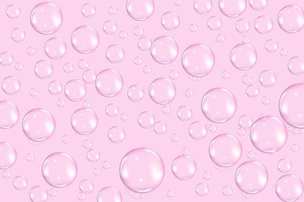 Latające przezroczyste tekstury baniek mydlanych