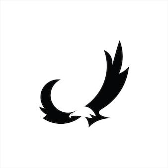 Latający jastrząb logo ptak
