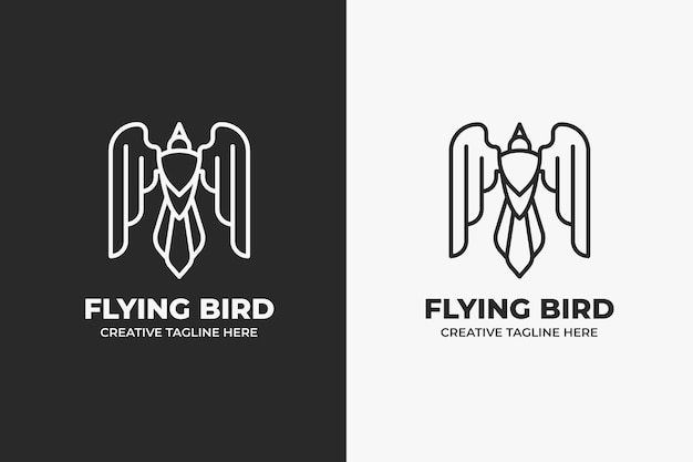 Latający ptak orzeł logo firmy