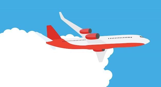 Latający samolot wysyłka ekspresowa dostawa koncepcja