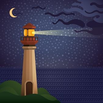 Latarnia morska w nocy