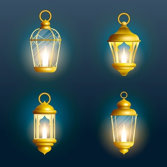 Latarnia ramadan na białym tle. arabska lampa dekoracyjna