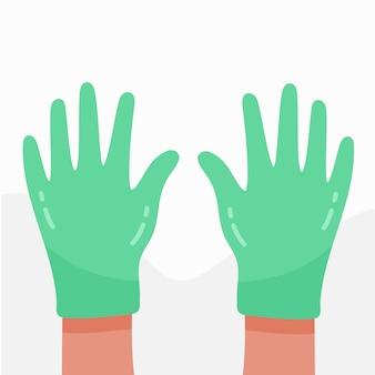 Lateksowe niebieskie rękawiczki do ochrony osobistej