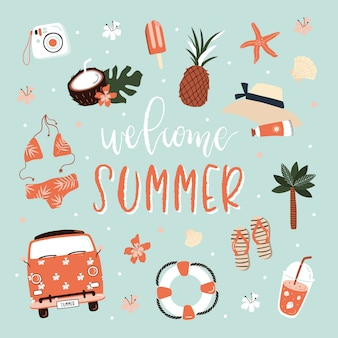 Lato bezszwowy wzór z literowaniem.