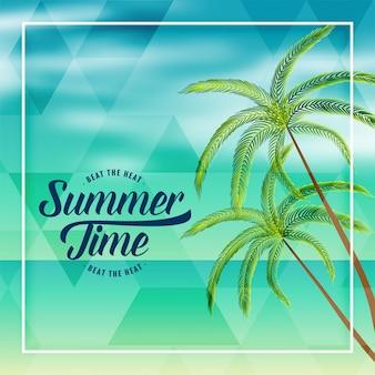 Lato czas plaży wakacje piękne tło