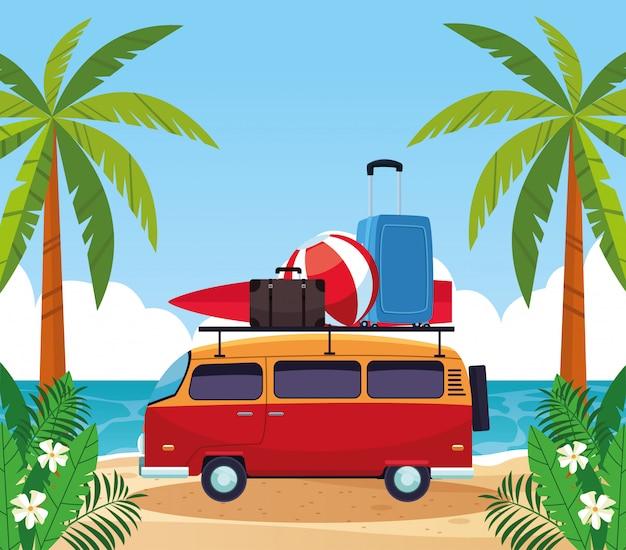 Lato i wakacje w zabytkowym vanie