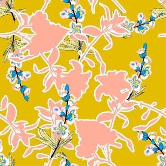 Lato jasne sylwetka kwiaty na rysunku strony