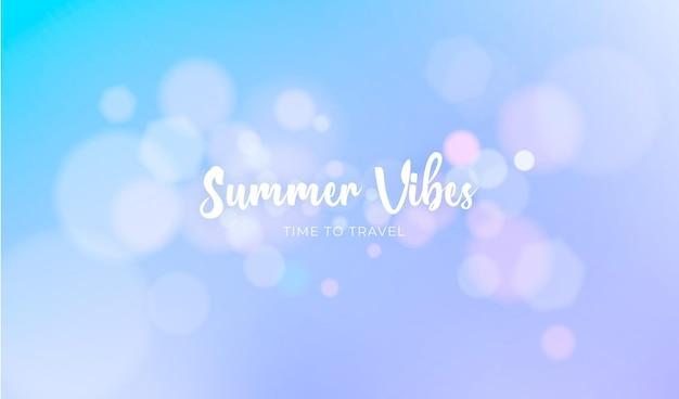 Lato nieostre tło z bokeh świateł