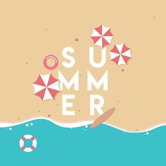 Lato plaża tło
