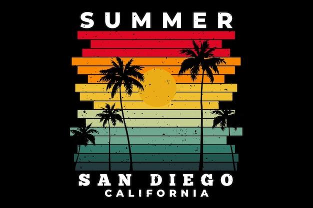 Lato san diego kalifornia plaża zachód słońca retro