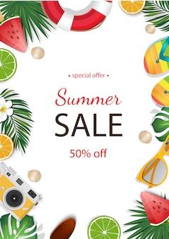 Lato sprzedaż piękny sztandar.