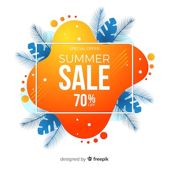 Lato sprzedaż płynnych kształtów banerów